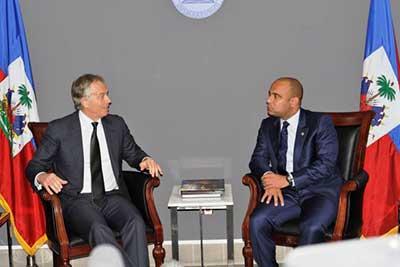 Tony Blair satisfait des progrès accomplis en Haïti
